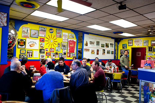 Interior of Hot Doug's