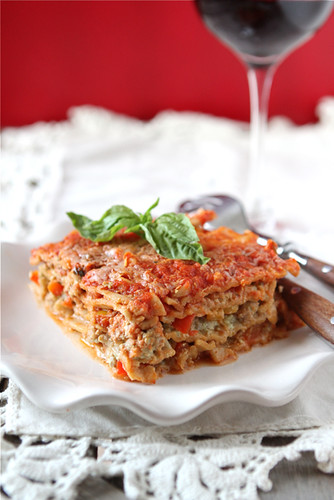 Healthy-Lasagne-Recipe-with-Turkey-Pesto &-Peppers-Cookin-Canuck