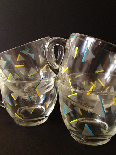 Etched and Confettied Party Punch Cups 11
