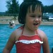 Small photo of Brenda at the pool