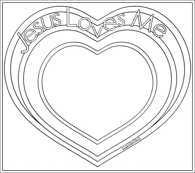 jesus heart colouring pages page 3