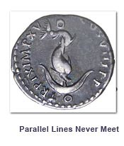 Dolphin on Anchor coin