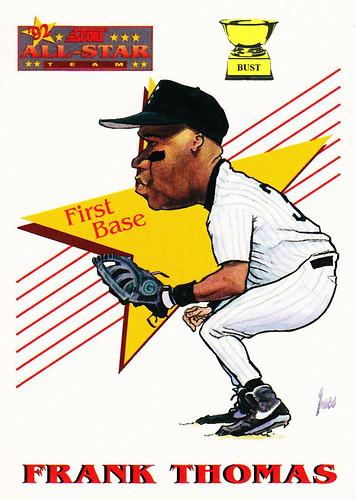 Baseball Card Bust Frank Thomas 1993 Score All Star Team