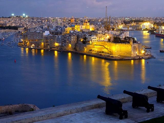 View from the upper Barrakka Gardens (Valletta, Malta)