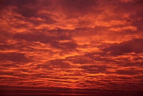 canon nuvole alba cielo rosso luce mattino