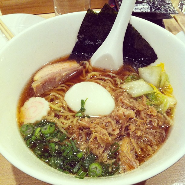 Momofuku ramen where David Chang is the religion.