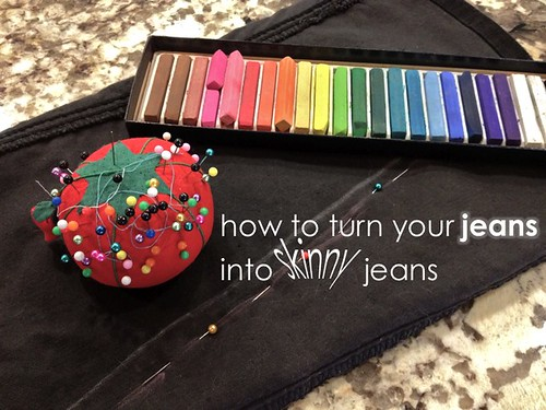 "How to Turn Your Jeans Into ""Skinny"" Jeans (Works For Maternity Jeans, Too!)"