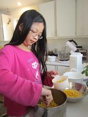 Making Corn Pudding