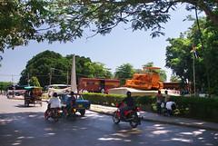 Monumento al Tren Blindado desde el Puente de la Cruz