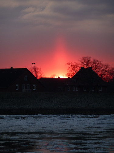 sunrise sonnenuntergang eis elbe feuerrot wonderfulworldofflowers panoramafotográfico