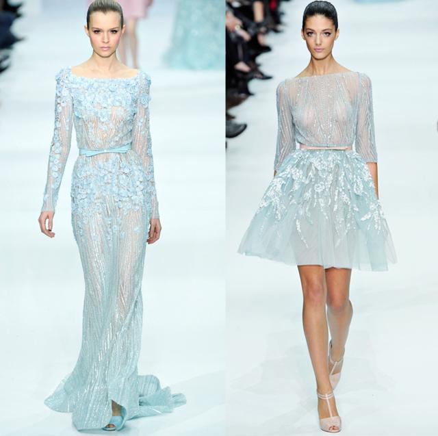 Elie Saab pastel dresses-Spring Couture 2012-blue