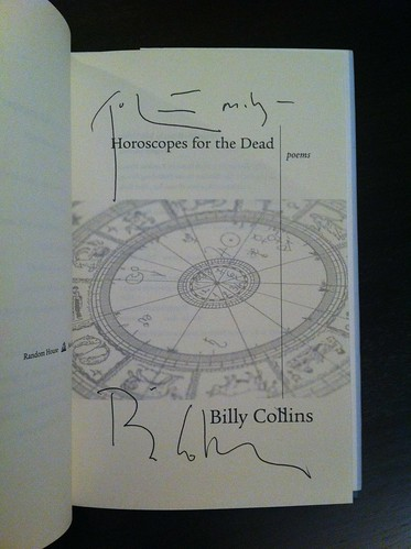 Signed copy of Horoscopes for the Dead