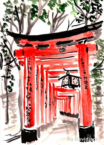 Tori Path, Fumishi Inari, Kyoto, Japan by david.jack