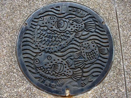 Shimonoseki Yamaguchi manhole cover (山口県下関市のマンホール)