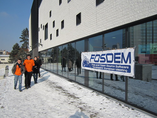 Fosdem 2012, under the snow