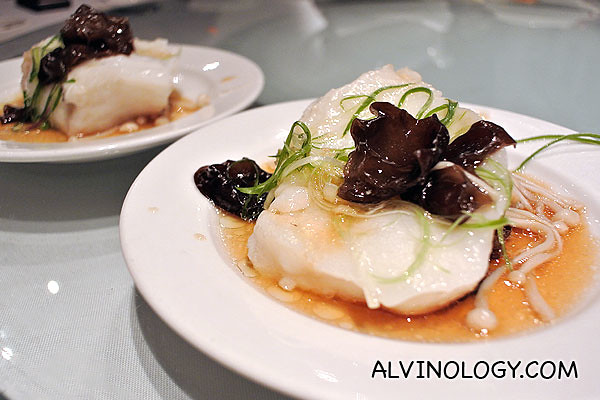 Individual portion of the cod fish