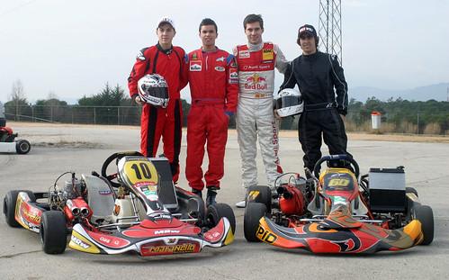 Maverick Viñales,Julián Simón, Josep Rodriguez y Miguel Molina
