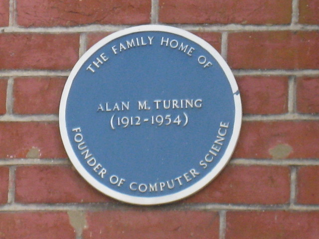 Photo of Alan Turing blue plaque
