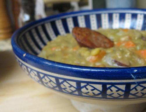 lentils with kielbasa