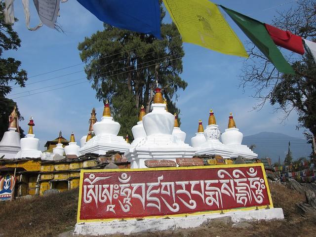 Chortens at Tashiding Monastery