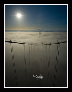 The Forth Road Bridge Fog.