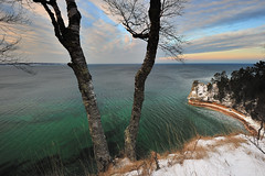 """Miners Castle in Winter""  Pictured Rocks National Lakeshore by Michigan Nut"