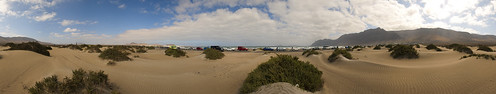 Dunas en Playa de Famara, Teguise. Isla de Lanzarote