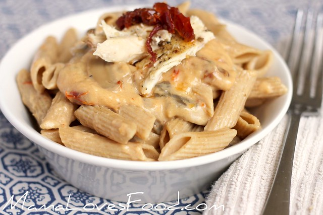 Sun Dried Tomato and Roasted Garlic Alfredo