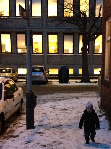 Little man in the snow