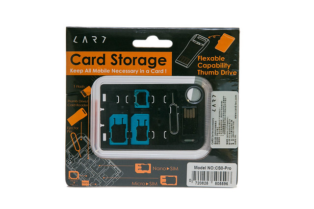 Geek 小物 – CARD CS0 Pro SIM 轉接卡隨身碟工具組 @3C 達人廖阿輝