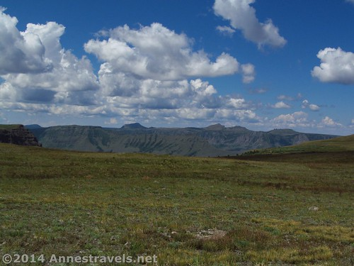 The view from near where we saw the sheep, Flat Tops Wilderness Area, Colorado