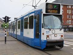 Amsterdam Zuid Olympiaplein lijn 24 wn 820 - Laatste dag van deze lijn daarna geen tram meer op de Stadionweg