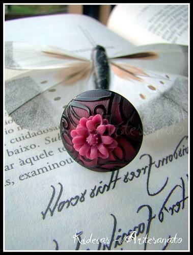 Anel tons rosa tinto e vermelho by kideias - Artesanato