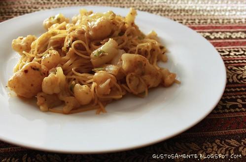Spaghettini piccanti al cavolfiore
