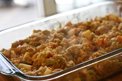 Stuffing with Butternut Squash and Apples