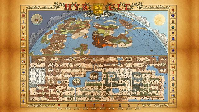 NES Hyrule Map wallpaper Legend of Zelda Adventure of Link Flickr Photo