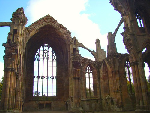Melrose Abbey Ruins, Scotland