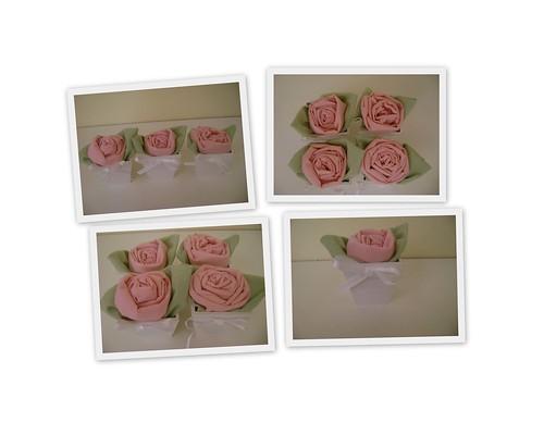 Mini vaso com rosinhas de tecido by Sweet by Carla