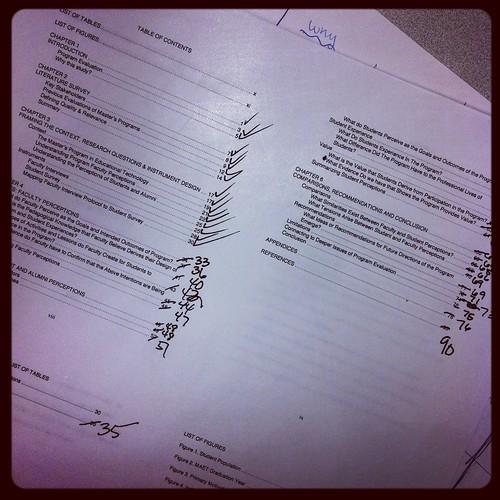 Dissertation edits