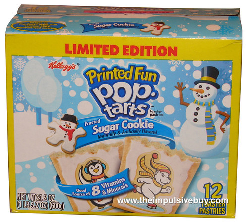 Kellogg's Limited Edition Printed Fun Frosted Sugar Cookie Pop-Tarts