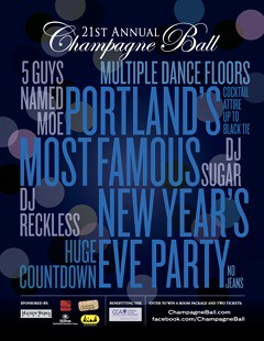 Portland Champange Ball New Years Party