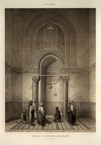 001-Mezquita de Mohammed-Ben Qalaoun siglo XIV-L'art arabe d'apres les monuments du Kaire…Vol 1-1877- Achille Prisse d'Avennes y otros