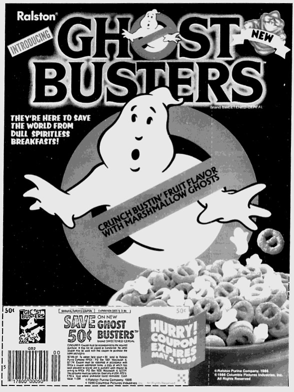 80's Ghostbusters Cereal Ad/Coupon