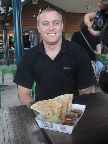 Clovis Young founder of Mad Mex with quesadillas & TFP camera