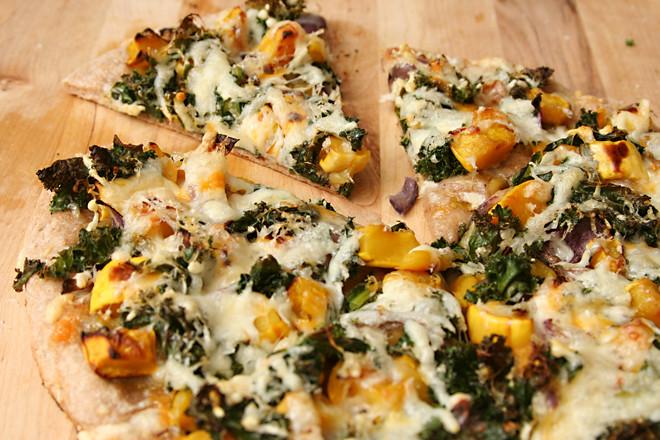 squash kale pizza 6