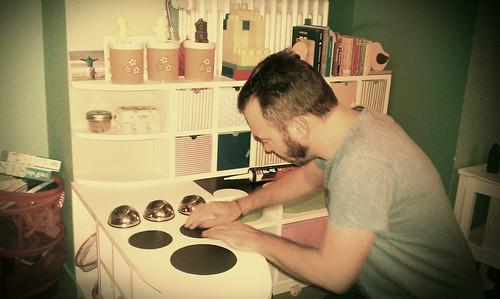 Building a kitchen.
