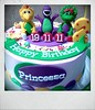 Barney cake ( buttercream covered )