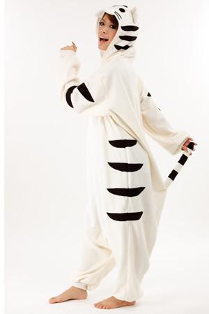 White tiger adult onesie pajamas