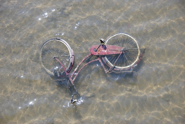 Bicycle in the Suka-gawa river