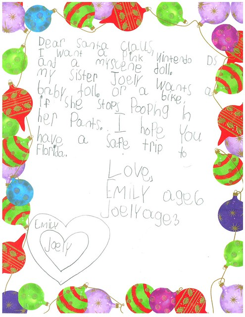 Letter to Santa from Florida